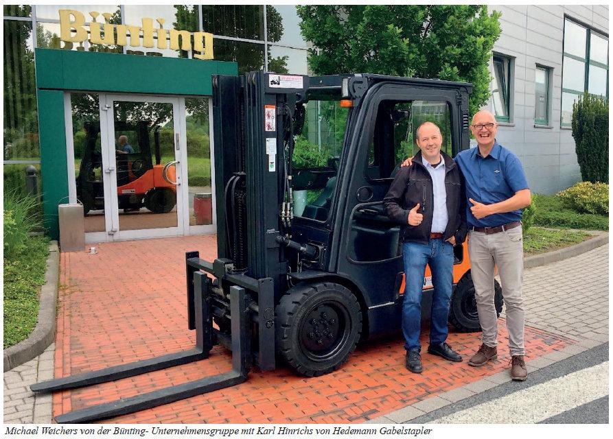 Bünting aus Leer mit dem 3 Tonnen Doosan Dieselstapler von Hedemann