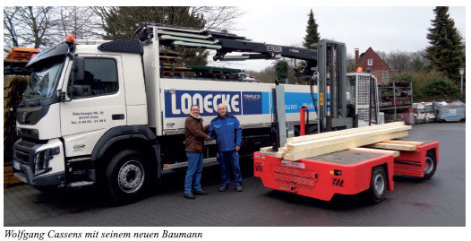 Baustoffhandel Lonecke aus Zetel investiert in neues  Lager für Langgut