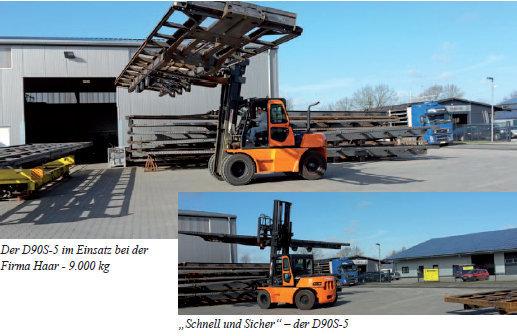Viktor Haar Molbergen / Lindern verbessert seine Verladung von Auflieger-Chassis