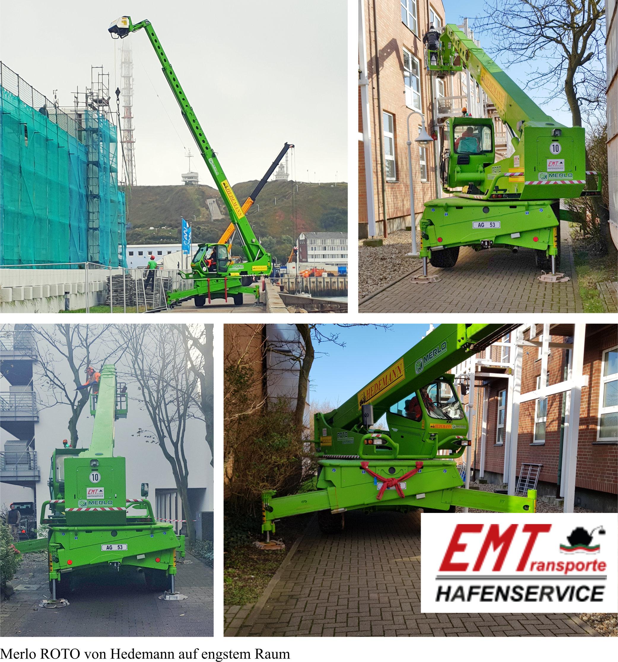 """Das """"Grüne Monster"""" unterstützt Helgoländer"""